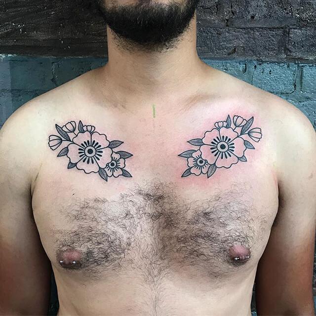 tatoueuse ashley dale fleurs