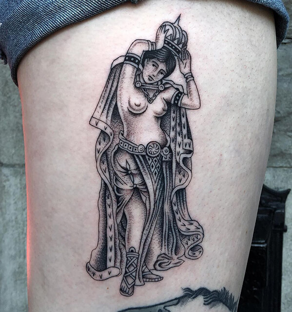 tatouage d'un aigle par Antoine