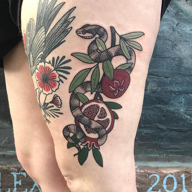 tatoueuse ashley dale crâne animal