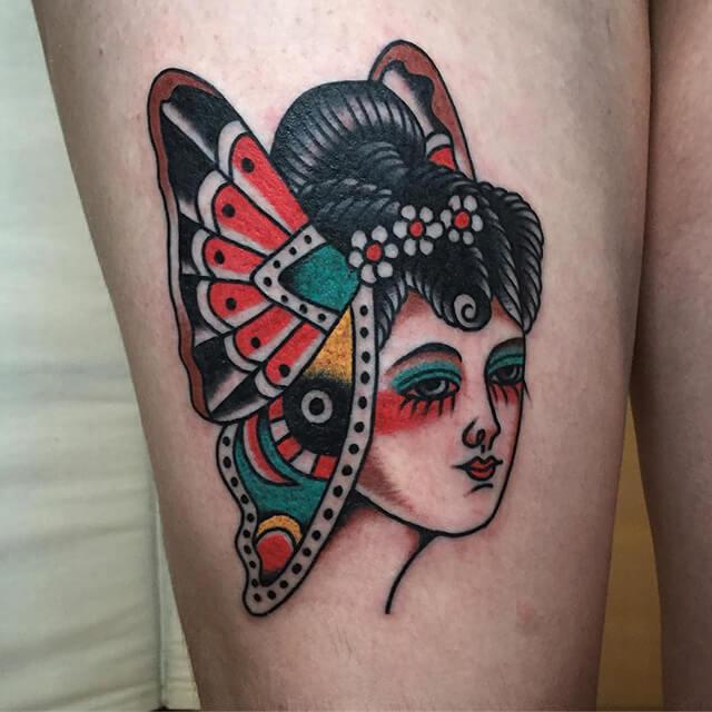 tatoueur Dylan crâne bizarre