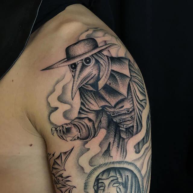 tatouage de sacré coeur par Antoine