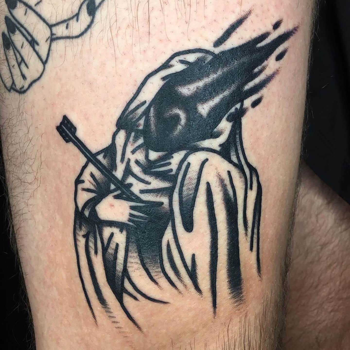 tatouage d'une fougère
